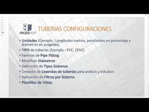 Personalizar Plantilla Tuberías, Revit MEP (2/3)