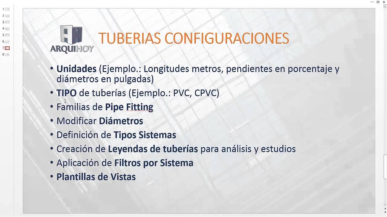 Personalizar Plantilla Tuberías, Revit MEP (2/3) - YouTube