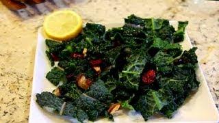 Black Kale Salad : Vegan Cooking