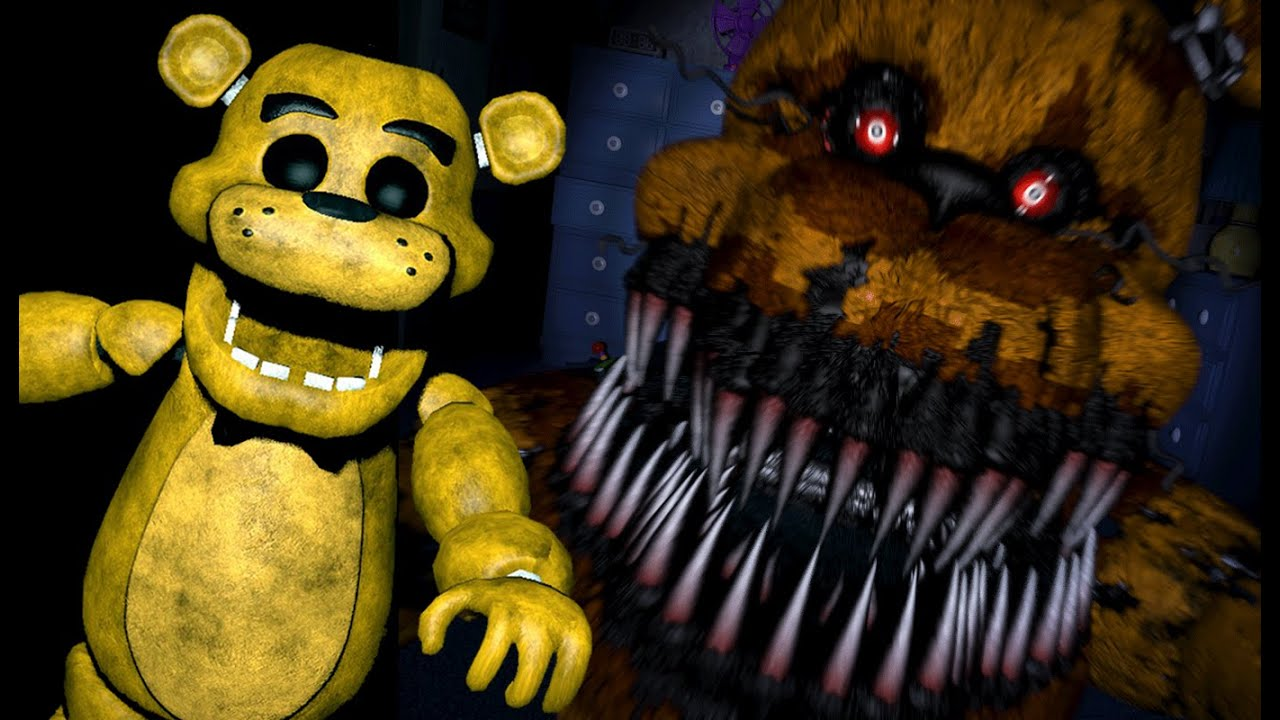 GOLDEN FREDDY PLAYS Five Nights At Freddys 4 Night 5