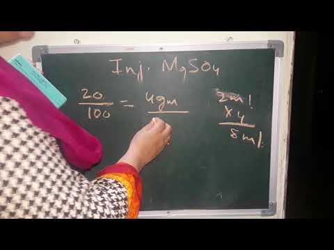 Magnesium Sulphate (MgSO4) In Hindi
