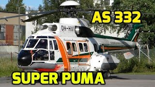 AS 332 Super Puma Helicopter: PULLS TRACTOR OUT OF FROZEN LAKE!!!
