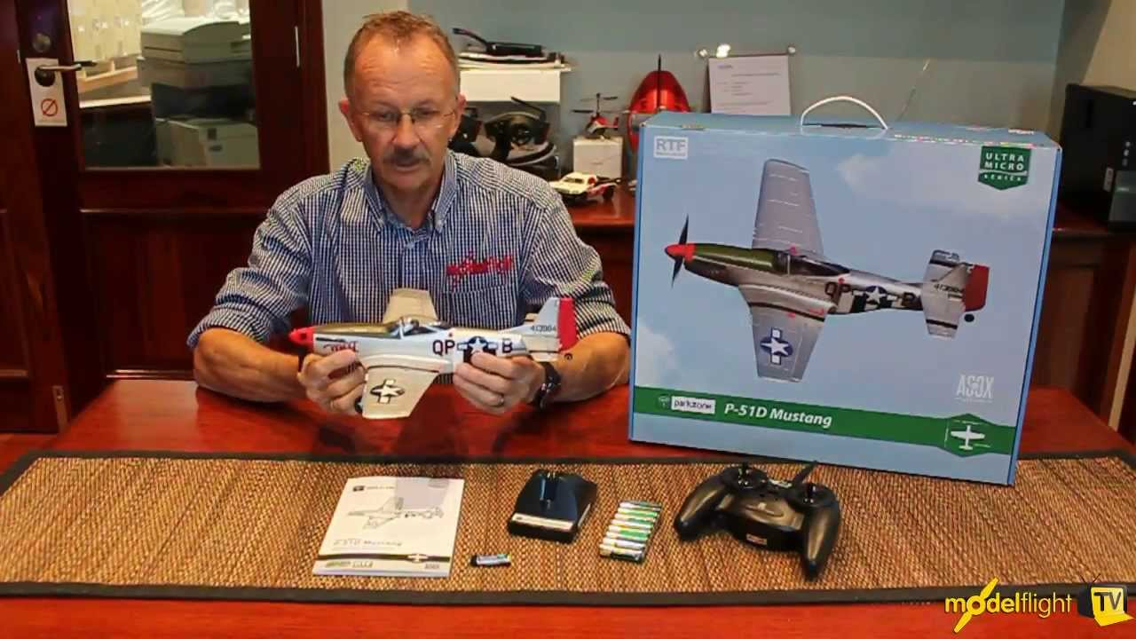 ParkZone Ultra-Micro P-51D Mustang, RTF Mode 2
