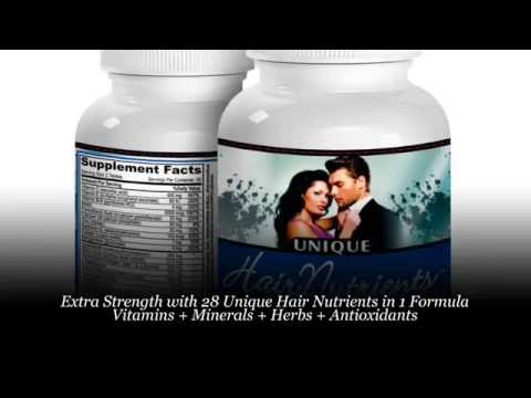 UNIQUE Hair Nutrients: 28 Natural Hair Growth Vitamins/Supplement (with Biotin 5000 mcg)