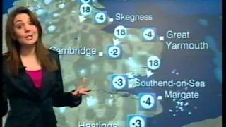 Repeat youtube video BBC Weather 10th February 2010: Snow Showers