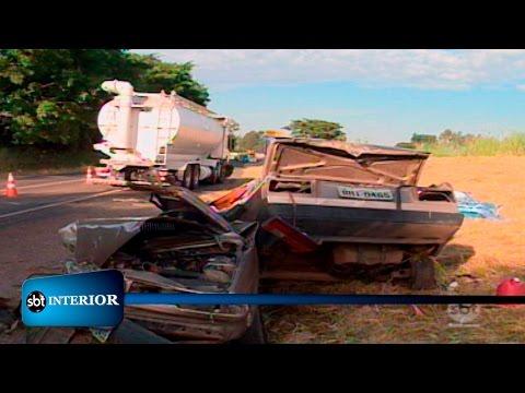 Cinco pessoas morrem após acidente em rodovia de Uchoa