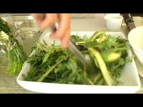 Lemony Dill Shaved Asparagus & Arugula Salad