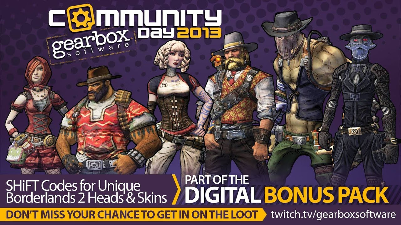 Borderlands 2: How to farm Community Day Skins and Heads ...
