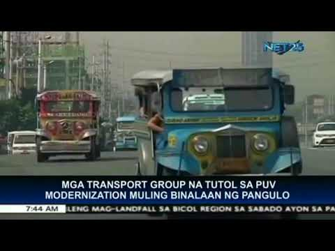 Mga transport group na tutol sa PUV modernization, muling binalaan ng Pangulo