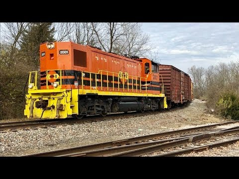 Indiana & Ohio Railway Switching Industrial Spur!  Pacing And Chasing IORY Train!