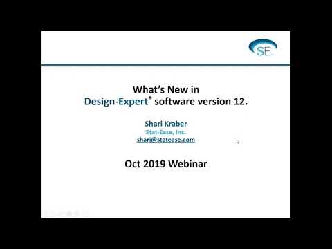What S New In Design Expert V12 Youtube