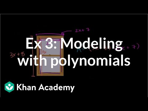 Example 3: Modeling with polynomials | Algebra I | Khan Academy