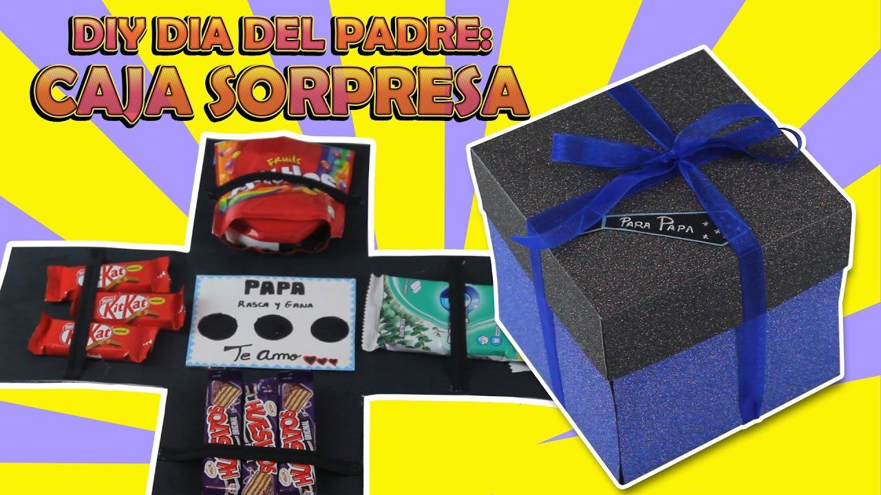 Diy dia del padre regalo caja sorpresa youtube - Regalos originales para mi padre ...