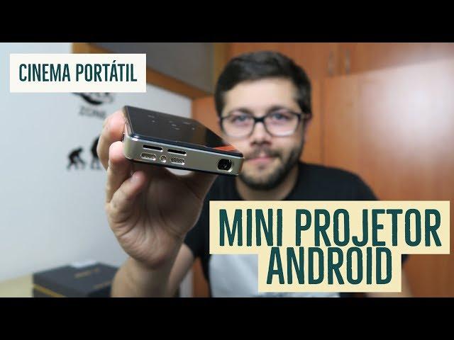 Mini Projetor Portátil com Android | Cinema em Qualquer lado