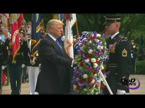 Arlington Cemetery 2017: Trump, Mattis & Dunford Honor Fallen Service Members (FULL).