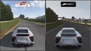 Forza Motorsport 4 vs Forza Motorsport 5 - Lexus LFA at Road Atlanta