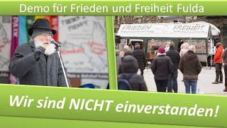 Demo Frieden und Freiheit Fulda/ 30.01.21/ Frau Merkel: Wir sind NICHT einverstanden!
