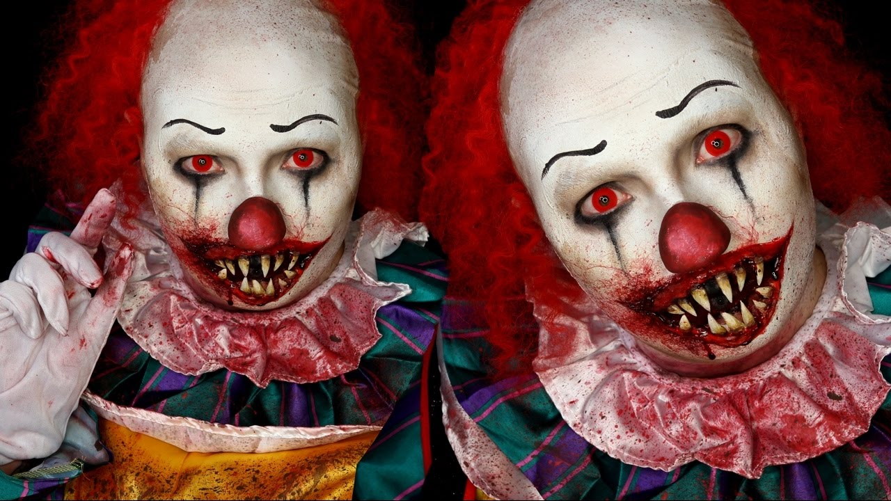 Pennywise IT Clown Halloween Costume Makeup Tutorial