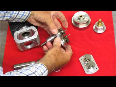 Rhombic Drive Stirling Cycle Engine  10cc Mk 2