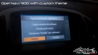 Opel Navi 900 with custom theme