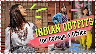 Everyday INDIAN OUTFITS For COLLEGE/WORKING Girl | Kurti Outfits/ Indo Western | ThatQuirkyMiss