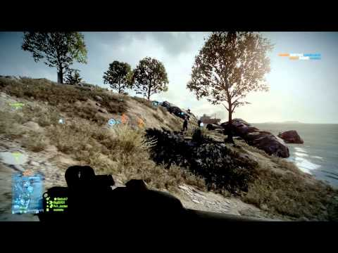 Battlefield 3 MP: (64 players, 200 tickets) Kharg Island Rush Attacker (28-10) (PC, Ultra, 1080p)