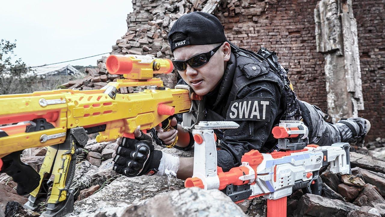 Films Nerf : S.E.A.L Sniper Nerf Guns Destroy Zombie Women SWAT rescue Princess Joker Nerf war