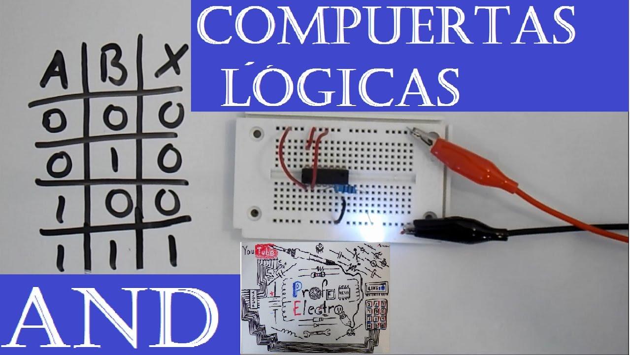 Circuito Not : Curso electrónica digital introducción compuerta and
