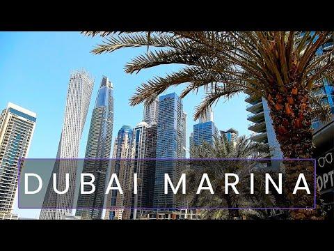 Dubai Marina Promenade Walk, Dubai Marina Boat Ride Tour - U