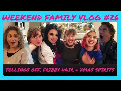 WEEKEND VLOG #26 - Nadia & Mark are TOLD off, XMAS SPIRITS at Harvey Nics & Nadias FRIZZY HAIR