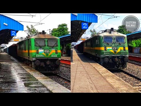 |[2 in 1]| WAG-9 Locomotive Compilation with Freight Trains in SDAH-LGL Main Stretch during Lockdown from YouTube · Duration:  4 minutes 12 seconds