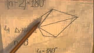 Сумма внутренних углов выпуклого многоугольника  Второе доказательство