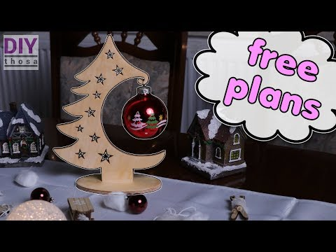 Wooden Desktop Christmas Tree - Free PDF Plan Download