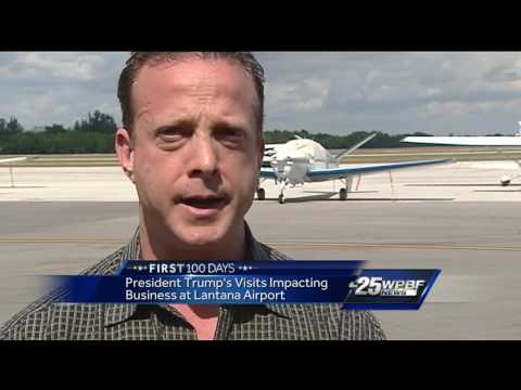 President Trump's visits impacting business at Lantana Airport