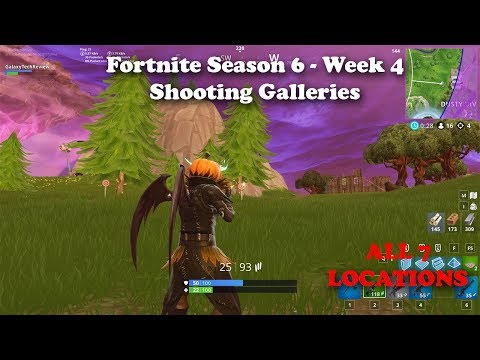 Fortnite - All Shooting Gallery Locations (Season 6, Week 4 Challenge)