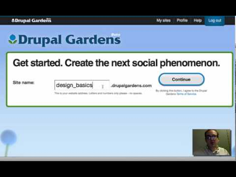 Drupal Gardens Tutorial 1 YouTube