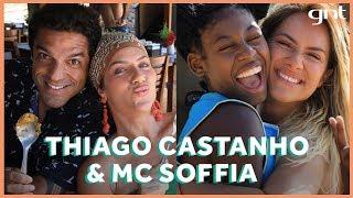 Da cozinha ao rap: Thiago Castanho e MC Soffia aproveitam Noronha com Gio Ewbank | No Paraíso
