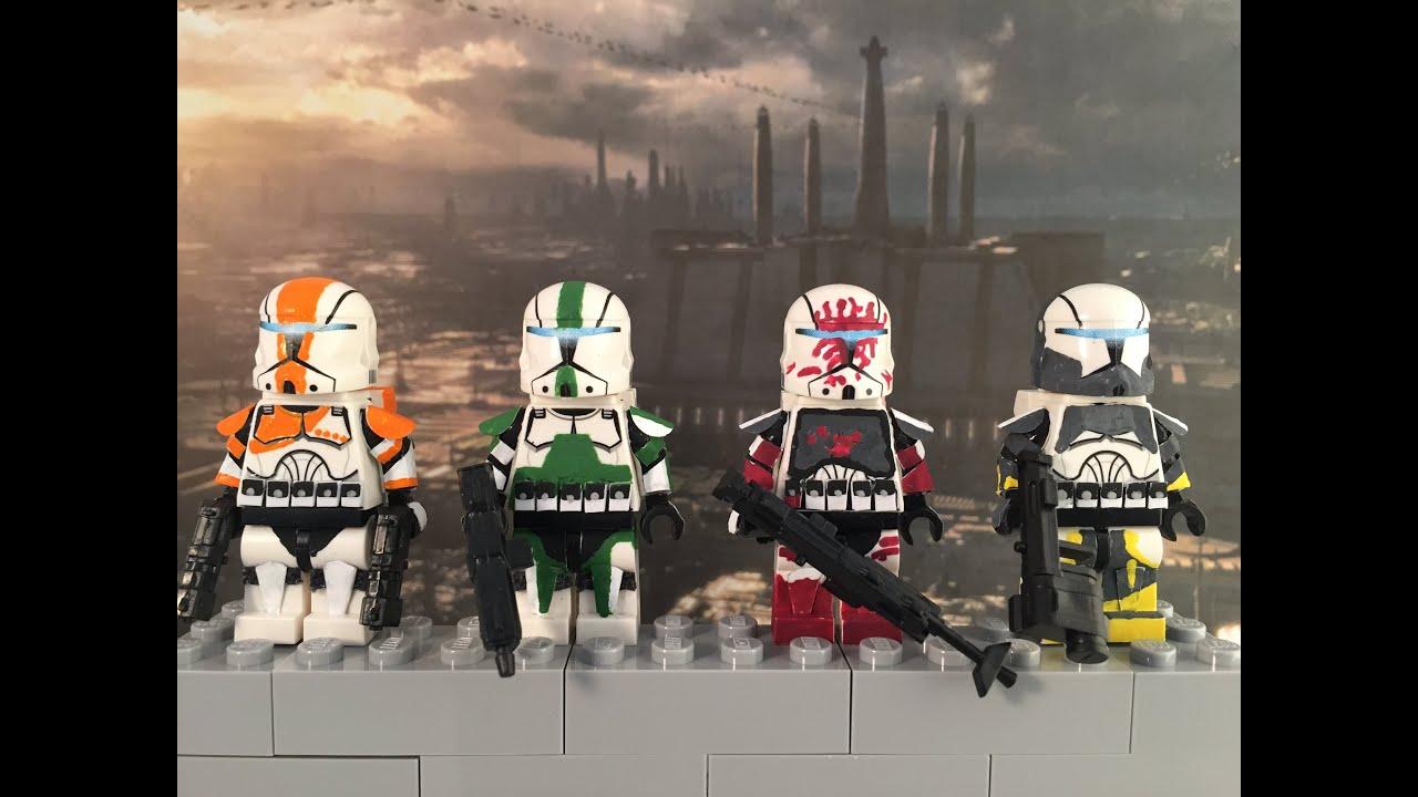 Custom LEGO Star Wars Minifigure Clone Commando Fixer Without Helmet