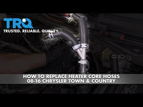 How to Replace Heater Core Hoses 2008-16 Chrysler Town & Country