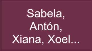 Gústanme os nomes en galego
