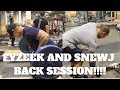 FYZEEK AND SNEWJ BACK WORKOUT