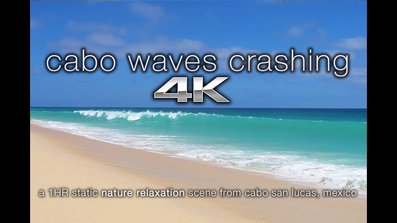 4K UHD Cabo San Lucas Beach BIG Waves Crashing | Nature Relaxation™Calming  Video Scene / Screensaver