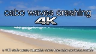 4K UHD Cabo San Lucas Beach BIG Waves Crashing   Nature Relaxation™Calming Video Scene / Screensaver