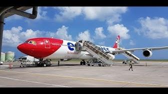 Edelweiss Air | Premium Economy | Airbus A340-300 | Zurich - Mahe | *full flight*
