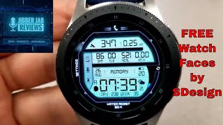 *FREEBIE ALERT!* Samsung Galaxy Watch/Gear Watch Faces by SDesign - Jibber Jab Reviews!
