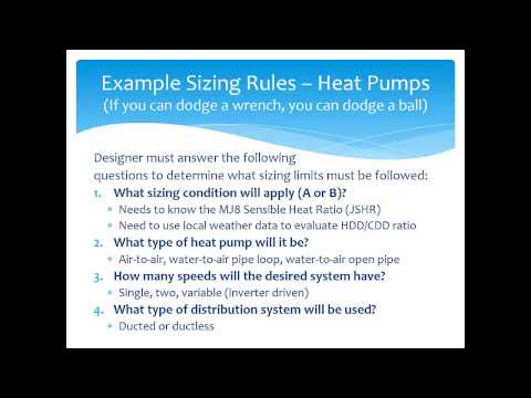 """""""What Code Officials Need To Know About HVAC System Design"""" Part 2 - Equipment Selection"""