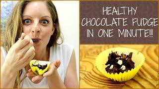 1 Minute Raw Chocolate Fudge!!! Healthy, Vegan & Sugar Free!!!