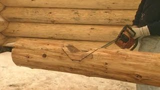 How to cut notches for log cabin