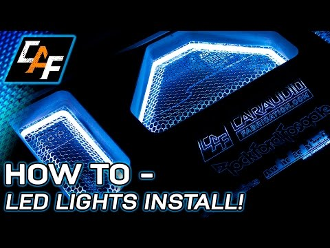 HOW TO Install LED LIGHTS Custom Vehicle Lighting Techniques - CarAudioFabrication