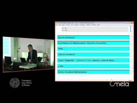 Introduzione a Mathematica, parte 1 - Prof. Fassò
